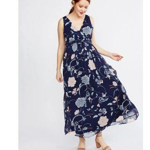 NWT Chiffon Floral Sleeveless Maternity Dress